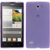 Silikonhülle für Huawei Ascend G700 X-Style lila