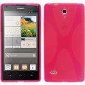 Silicone Case for Huawei Ascend G700 X-Style hot pink