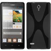 Coque en Silicone pour Huawei Ascend G700 X-Style noir
