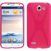 Silicone Case for Huawei Ascend G730 X-Style hot pink