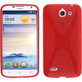 Silicone Case for Huawei Ascend G730 X-Style red