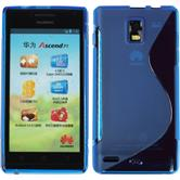 Silicone Case for Huawei Ascend P1 S-Style blue