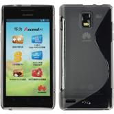 Silicone Case for Huawei Ascend P1 S-Style gray