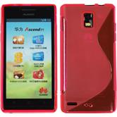 Silicone Case for Huawei Ascend P1 S-Style hot pink