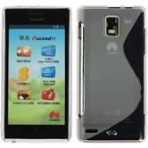 Silicone Case for Huawei Ascend P1 S-Style transparent