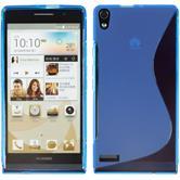 Silikonhülle für Huawei Ascend P6 S-Style blau