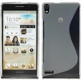 Silicone Case for Huawei Ascend P6 S-Style gray