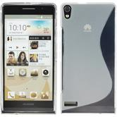 Silicone Case for Huawei Ascend P6 S-Style transparent