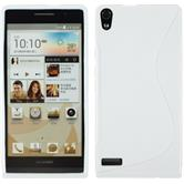 Silicone Case for Huawei Ascend P6 S-Style white