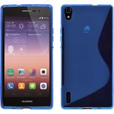 Silicone Case for Huawei Ascend P7 S-Style blue