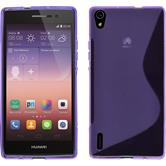 Silicone Case for Huawei Ascend P7 S-Style purple