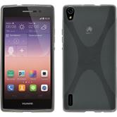 Silicone Case for Huawei Ascend P7 X-Style gray