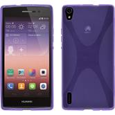 Silicone Case for Huawei Ascend P7 X-Style purple