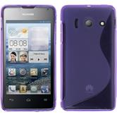 Silicone Case for Huawei Ascend Y300 S-Style purple