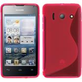 Silicone Case for Huawei Ascend Y300 S-Style hot pink