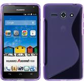 Silicone Case for Huawei Ascend Y530 S-Style purple