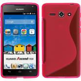 Silicone Case for Huawei Ascend Y530 S-Style hot pink