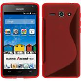 Silicone Case for Huawei Ascend Y530 S-Style red