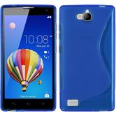 Silicone Case for Huawei Honor 3C S-Style blue