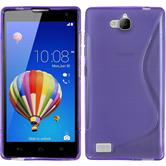 Silicone Case for Huawei Honor 3C S-Style purple