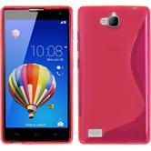 Silikonhülle für Huawei Honor 3C S-Style pink