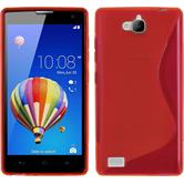 Silicone Case for Huawei Honor 3C S-Style red