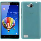 Silicone Case for Huawei Honor 3C transparent turquoise