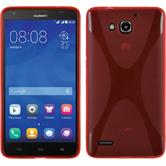 Silicone Case for Huawei Honor 3X G750 X-Style red