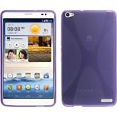 Silicone Case for Huawei MediaPad X1 X-Style purple