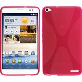 Silicone Case for Huawei MediaPad X1 X-Style hot pink