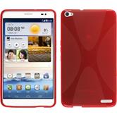 Silicone Case for Huawei MediaPad X1 X-Style red