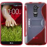 Silicone Case for LG G2  red