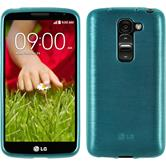 Silicone Case for LG G2 mini brushed blue
