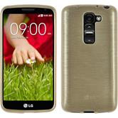 Silicone Case for LG G2 mini brushed gold
