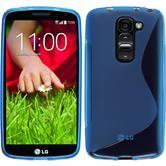 Silikon Hülle G2 mini S-Style blau + 2 Schutzfolien