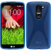 Silikon Hülle G2 mini X-Style blau + 2 Schutzfolien