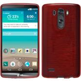 Silicone Case for LG G3 brushed red