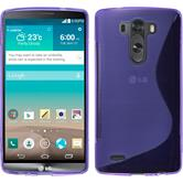 Silicone Case for LG G3 S-Style purple