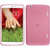 Silicone Case for LG G Pad 8.3 transparent pink