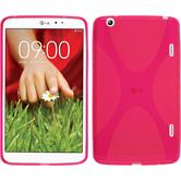 Silicone Case for LG G Pad 8.3 X-Style hot pink