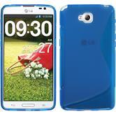 Silikon Hülle G Pro Lite S-Style blau + 2 Schutzfolien