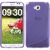 Silikon Hülle G Pro Lite S-Style lila + 2 Schutzfolien