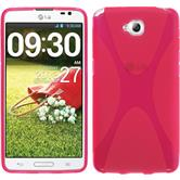 Silikon Hülle G Pro Lite X-Style pink + 2 Schutzfolien