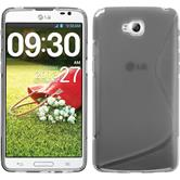 Silicone Case for LG G Pro Lite Dual S-Style gray