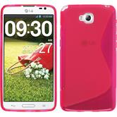 Silicone Case for LG G Pro Lite Dual S-Style hot pink