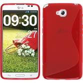 Silicone Case for LG G Pro Lite Dual S-Style red