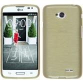 Silicone Case for LG L70 brushed gold