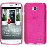 Silicone Case for LG L70 brushed hot pink