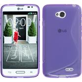 Silicone Case for LG L70 S-Style purple