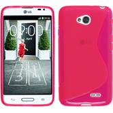 Silicone Case for LG L70 S-Style hot pink